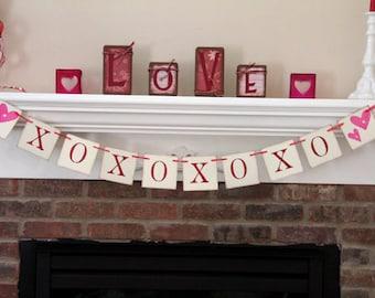 XOXO Banner • Valentine Banner • Valentine's Day Banner • Valentine Garland • Love Banner