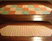 Fall Patchwork Reversible Table Runner