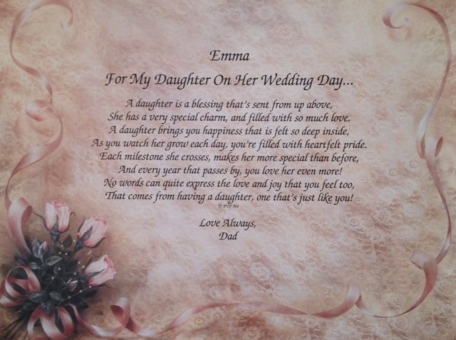 Gifts For Your Daughter On Her Wedding Day: Wedding Gift For Daughter For My Daughter On Her Wedding