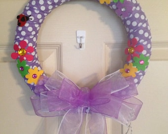 Burlap Wreaths, Rustic Wreaths,Children's Wreaths, 12 inches