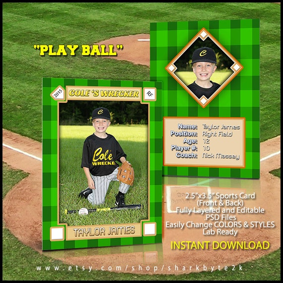 baseball card template free - 2017 baseball sports trader card template for photoshop play