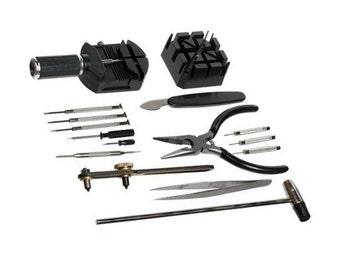 16pc Universal Home DIY Watch Repair Tool Set (Open Watch Backs - Change Bands)