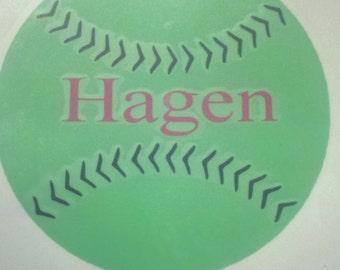Personalized softball/ baseball dedal