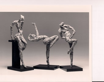 """Rehearsal - Unique, One of a Kind Figurative Sculpture.  Bonded Bronze. 35"""" x 14"""" x 10"""" (each piece)"""