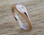 RESERVED LISTING for Joy // Dear Etsy buyers please do not order this ring // Tiny Lotus signet- 14kt rose gold hand engraved