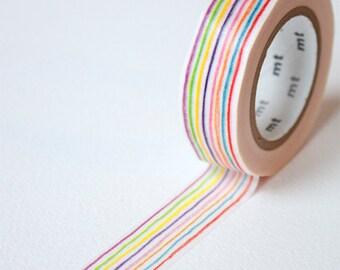 Rainbow Stripe Washi Tape • MT Masking Tape • MT ex Washi Tape • Washi Tape UK • Japanese stationery • Iro Enpitsu