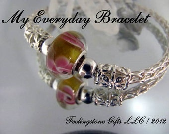 My Everyday Bracelet, Instant Download PDF Tutorial,Free Gift Tutorial, Wire Wrapping,Viking Weave, Single Knit,