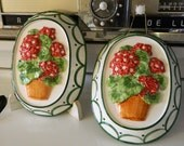 Pair of ceramic Geranium molds - Scarfletsandmore