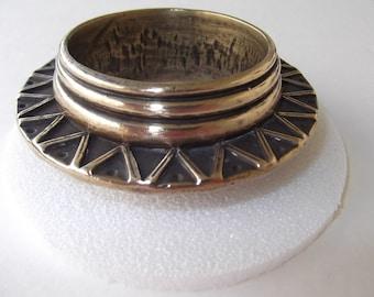 Chunky Brass Bangle Bracelet