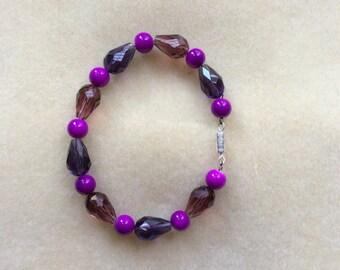 Purple drop bracelet
