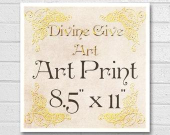 Digital Art Print 8.5x11 - Printable wall decor, Art print, made to match all my designs