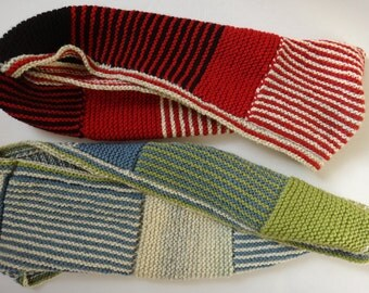 His-and-Her Lover Infinity Warm scarf Pair - Splice - Loop - Hand Made