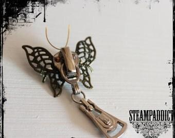 """Broche """"papillon mecanique """" Broche steampunk"""