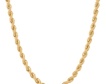 10K Yellow Gold 8.0mm Rope Chain - Handmade