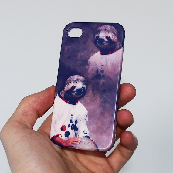 Astronaut Sloth iPhone Case For - iPhone 6 Plus Case - iPhone 6 Case - iPhone 5C Case - iPhone 5 Case - iPhone 4 Case 1M86A