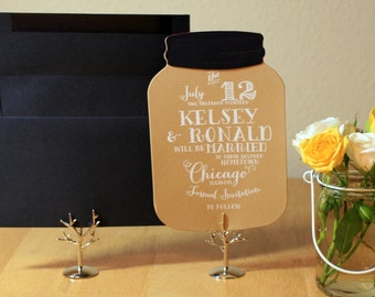 Mason Jar wedding Save the Date SAMPLE