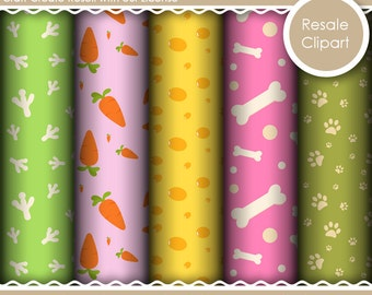 Cute Baby Pets Digital Papers for Commercial, Personal or Resale Use