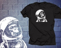 Astronaut Chimp T shirt Shirt Funny Shirt Monkey Space T shirt Planet NASA t shirt Gift Christmas Birthday Humor