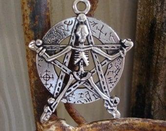 numerology skeleton pendant/charm