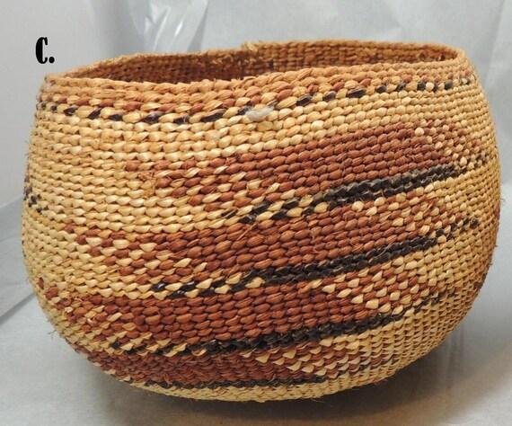 Handmade Beaded Basket : Hupa or hoopa native american handmade basket c
