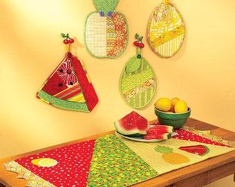 Sewing Pattern Out of Print- Ellie Mae Designs Craft Pattern,  Place-mat Pattern, Hot Pad Patterns Kwik Sew #K0115