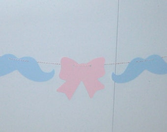 Gender Reveal Banner Mustache Boy or Girl (551B)
