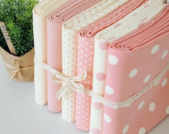 Oxford Cotton Fabric Polka Dot Indi Pink Series By The Yard