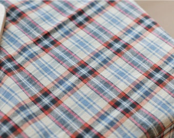 Pre-washed Cotton Fabric Plaid By The Yard