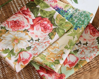 Cotton Fabric Big Rose By The Yard