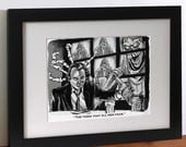 """Scrooged """"Ghost of Christmas Future"""" Print"""