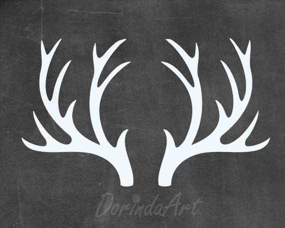 Crush image within printable deer antlers