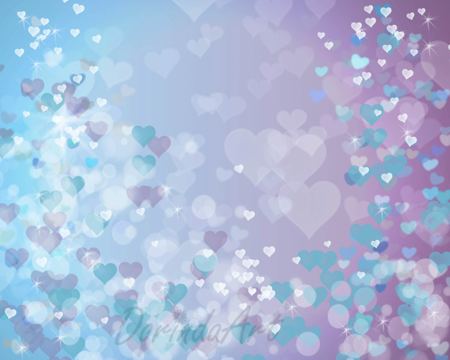 Purple And Turquoise Wallpaper: Heart Printable Valentine Background Purple Blue Heart Print