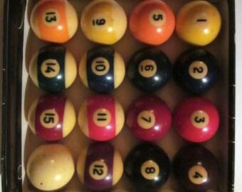 Vintage made in Belgium  Aramith Billiard Balls complete set in original box