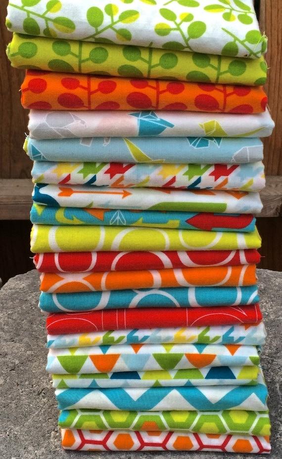 Mixed Bag Brushed Fabric by Studio M for Moda - Custom Bundle, 20 pieces (1/4 Yard Minimum)
