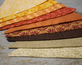 Thanksgiving Fall Autumn Harvest Mantle Decorations Fabric Bunting Banner for Pumpkin Patch Photo Prop, Office Party, Orange, Tan, Brown