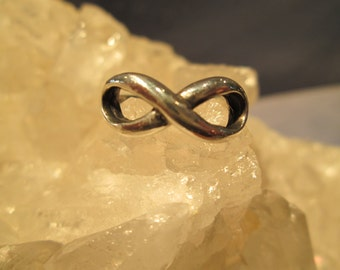 Infinity Ring ~ Hand Cast in Sterling Silver