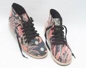 LDC Shoes - Feathers Batik - ONLY Women Size EU 37 Available!!! - Women Flat Shoes - Sneakers - Unique Limited Handmade - www.ldcshoes.com