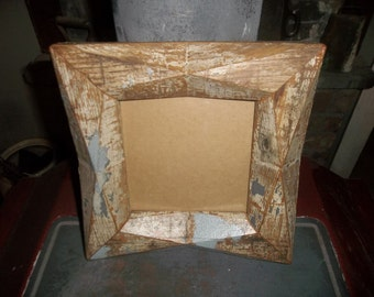 Salvaged Wood And Glass Picture Frame