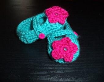 Crochet Girl Booties