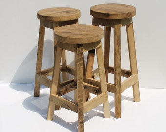 30 bar stool etsy - Tabouret de bar en bois brut ...