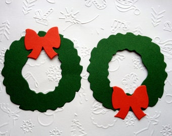 12 Large Christmas Wreath die cuts for cardmaking, toppers, scrapbooking or papercraft