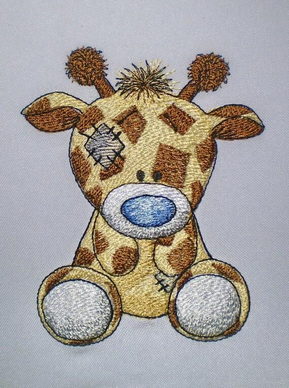 Giraffe Twiggy Machine Embroidery By ArtEmbroideryDesigns