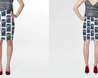 Doctor WHO Tardis Print Skirt