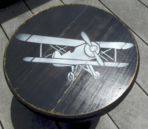 Child S Stool With Airplane
