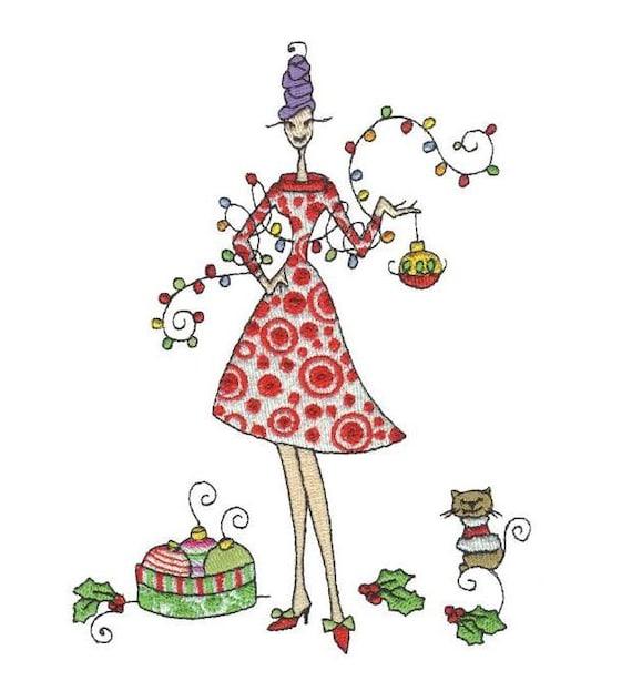 Lu Lu Christmas Embroidery Designs - PES