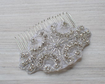 Crystal Bridal Hair Comb, Downton Abbey, Great Gatsby, Vintage Hairpiece, Bridal bridesmaid Hair Accessory, Crystal Headpiece