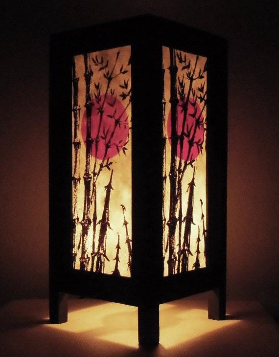 rare papier fait main vintage tha landais lampe asie orientale. Black Bedroom Furniture Sets. Home Design Ideas