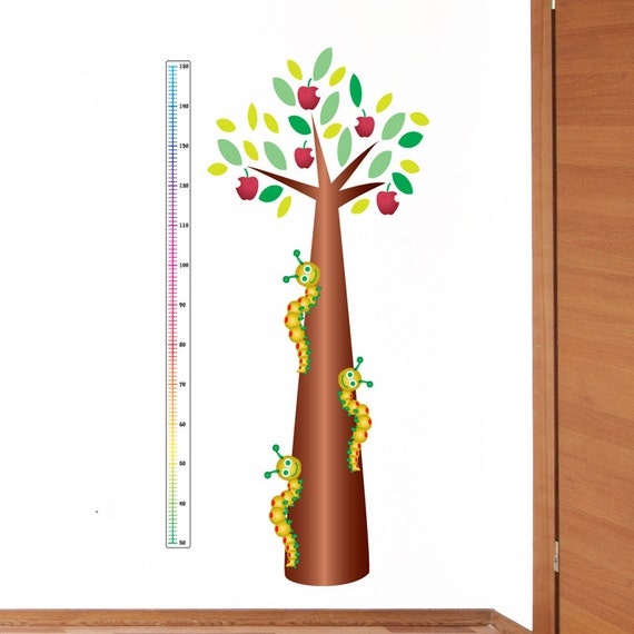 Caterpillar Tree Height Chart Wall Sticker Growth By Wallgenie