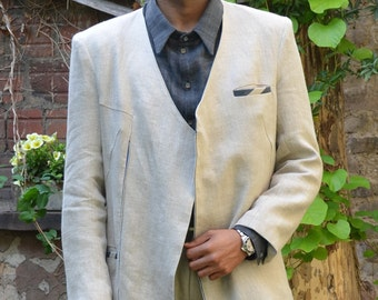 PDF sewing  Pattern for Mens jacket without collar and e-book sewing instructions