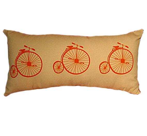 Throw Pillows With Bikes : Handmade Bicycle Throw Pillow